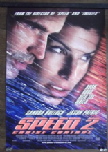 Speed 2, Original DS Movie Poster, Sandra Bullock, Jason Patric, '97